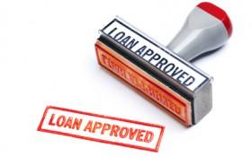 Stämpel med texten loan approved
