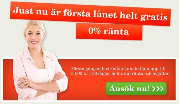 Smslån hos Folkia