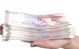 Sedelbunt med 500kr sedlar