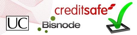 Creditsafe, Bisnode och UC logotype
